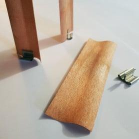 10 mèches design en bois avec socles