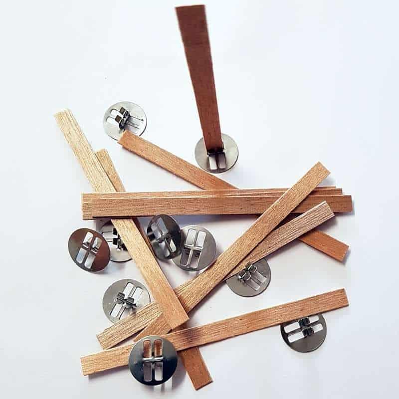 10 mèches renforcées en bois avec socles - T 2 (ø 5 à 6 cm)