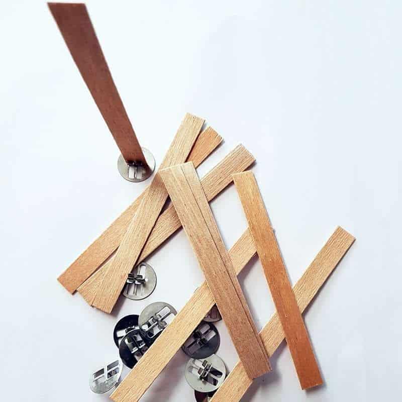 10 mèches renforcées en bois avec socles - T 3 (ø 6 à 8 cm)