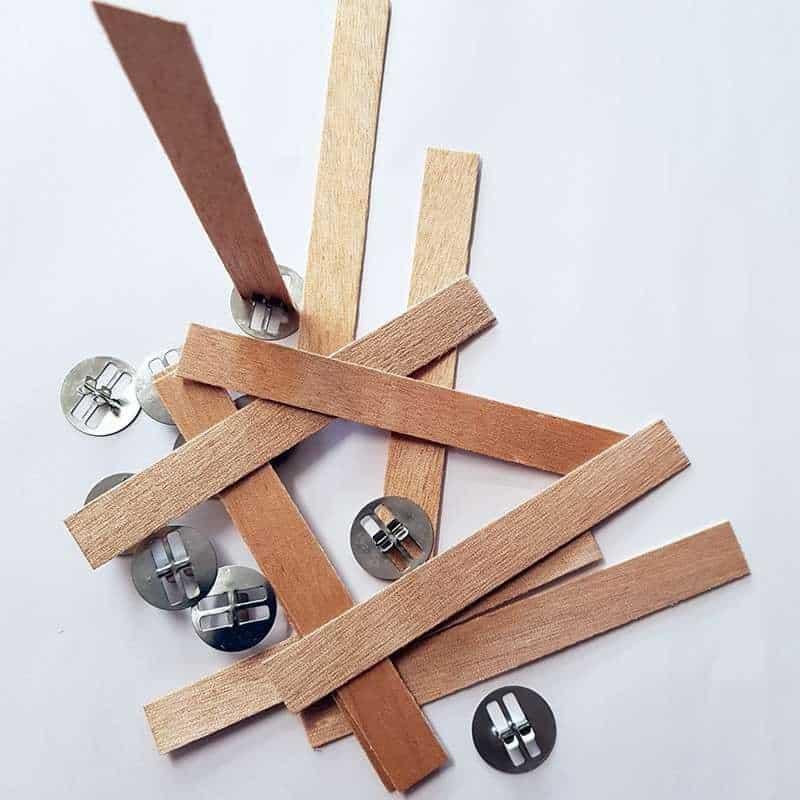 10 mèches renforcées en bois avec socles - T 4 (ø 8 à 9 cm)