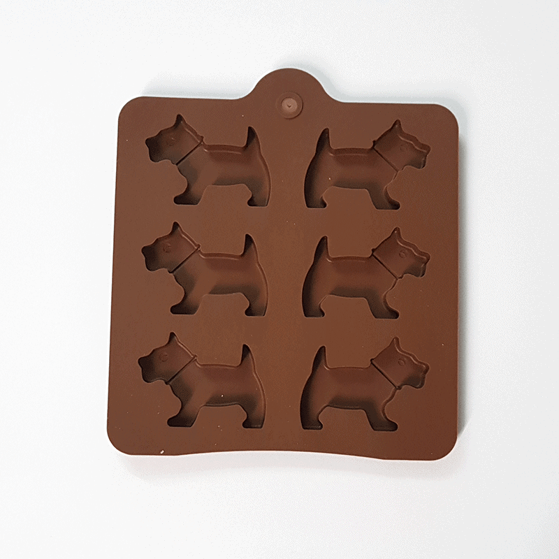 Moule silicone 6 chiens
