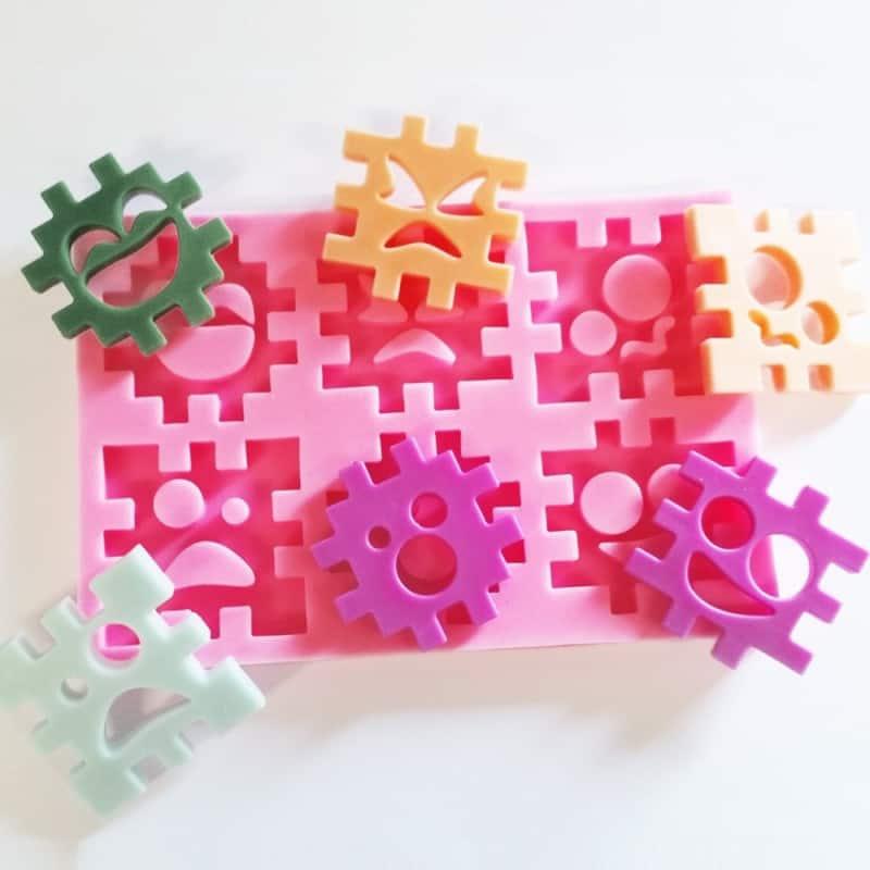Moule silicone puzzle