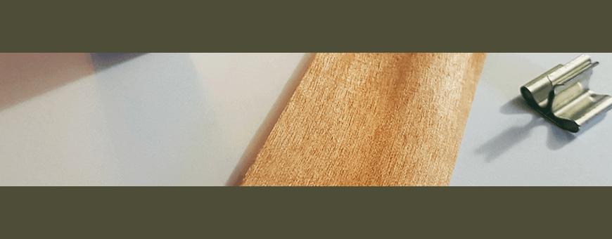 Mèches en bois de différentes formes pour des bougies originales