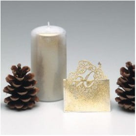 Spray pour bougies - paillettes or